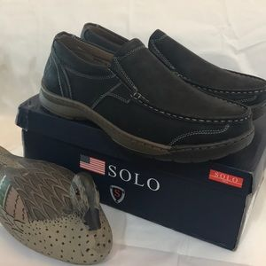 ffa133785f8 Men s Black Loafers Solo Size 9.5 New